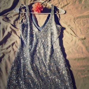 Bebe XS sequined tank